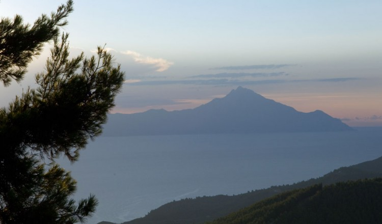 Mount Athos view from Vourvourou Halkidiki