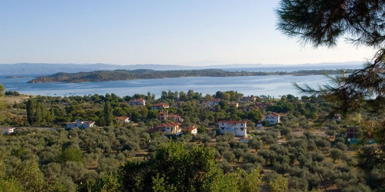 Panoramic view of Vourvourou Sithonia